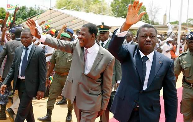 faure gnassingbe et Yayi Boni