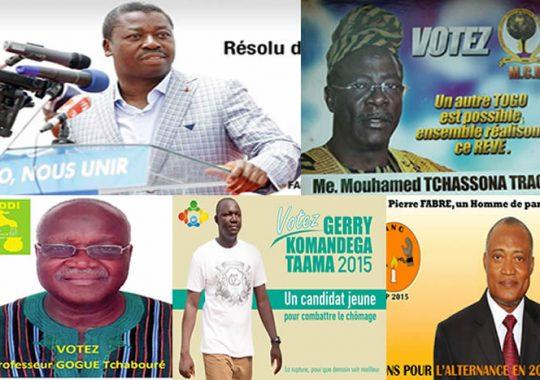 Campagne présidentielle au Togo, les 5 candidats en action