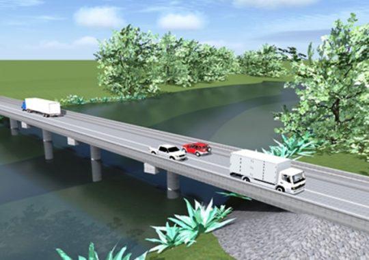 Togo : Un pont au-dessus du Mono