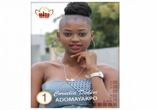 ADOMAYAKPO Cornelia Dédévi Ayaba Élue Miss Togo 2017