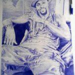 Togo : Quand le jeune Richard Akomedji dessine Emmanuel Adebayor