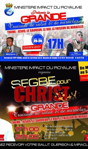 Grande Croisade de Salut et de Miracle à Ségbé