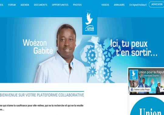 Site Web UNIR : Union pour la République lance sa plateforme numérique
