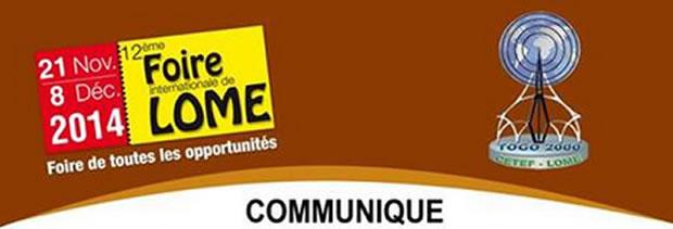 Menaces d'Ebola : La 12ème foire Internationale de Lomé est reportée