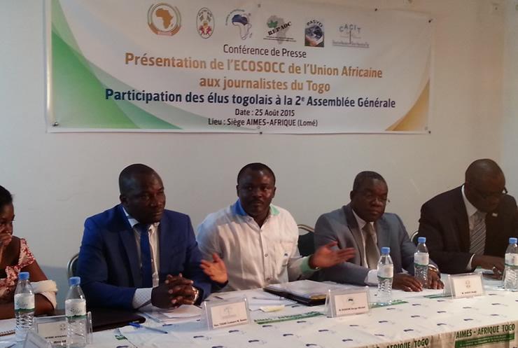 Le Togo représenté sur le plan continental a l'ECOSOCC par l'ONG AIMES-Afrique