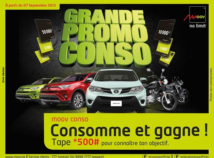 Moov Togo va encore faire des heureux gagnants avec Moov Conso