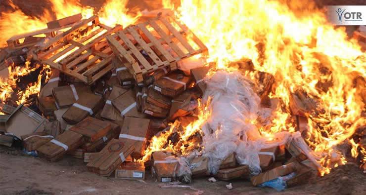 Fêtes de Fin d'année:  l'OTR saisit une importante cargaison de produits prohibés