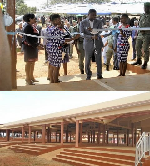 PUDC : Faure Gnassingbé inaugure un marché à Kougnohou