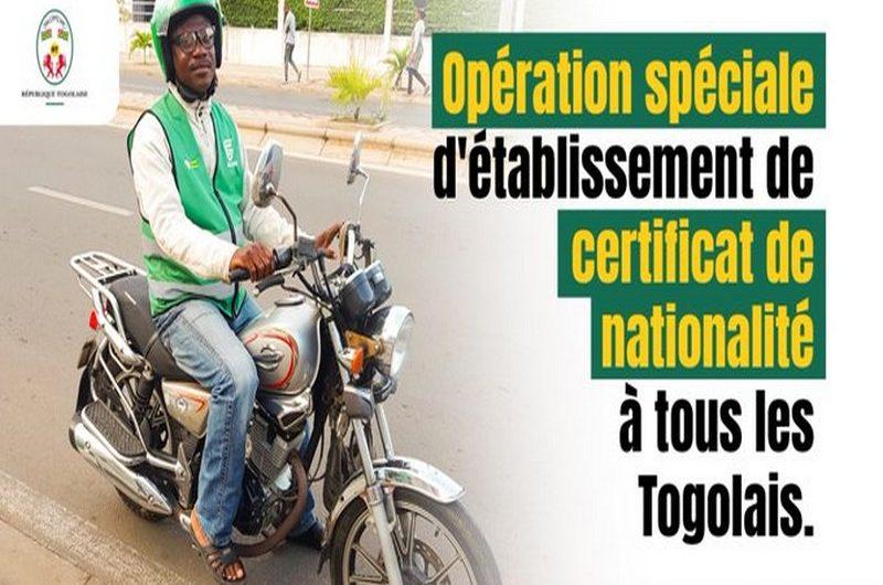 Opération spéciale d'établissement de certificats de nationalités à tous les Togolais.