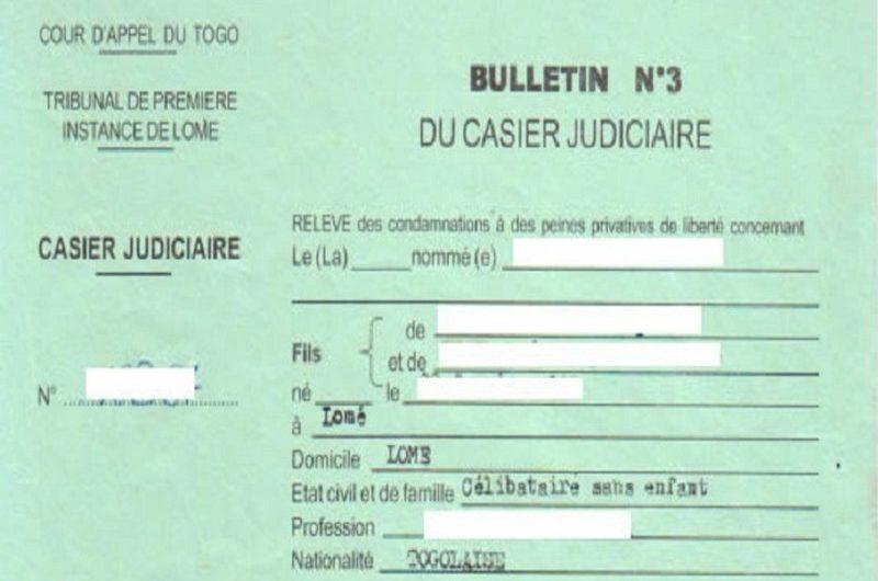 Les Togolais feront bientôt la demande de casier judiciaire en ligne.