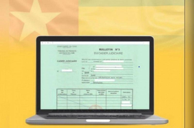Togo: voici comment obtenir le casier judiciaire en ligne.