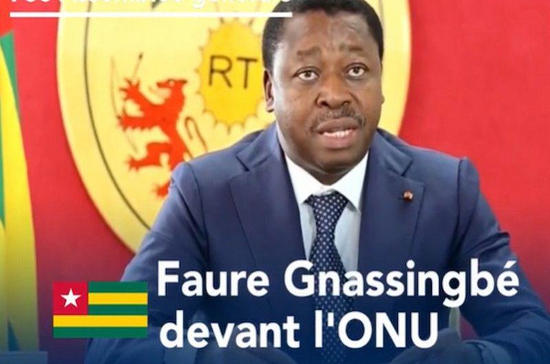 Togo: discours de Faure Gnassingbé à la 76è Assemblée générale de l'ONU.