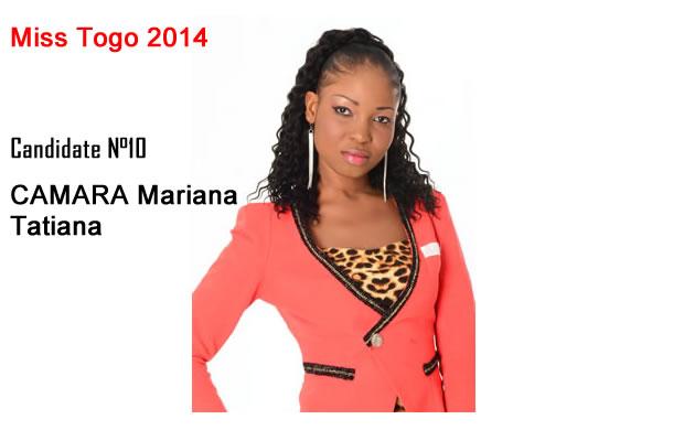 CAMARA Mariana Tatiana est élue Miss Togo 2014 ce samedi
