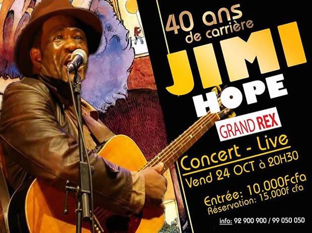 Jimi Hope : 40 ans de carrière, spécial jubilé d'émeraude au Grand Rex de Lomé