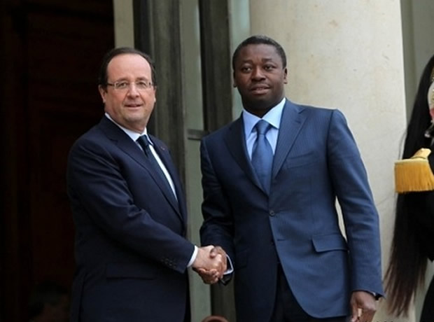 Faure-Gnassingbe-francois-Hollande