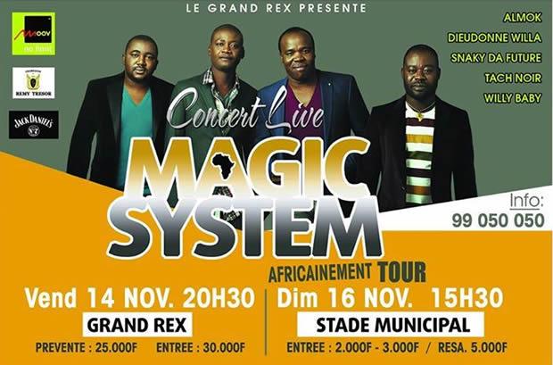 Togo : Concert géant du groupe Magic System à Lomé