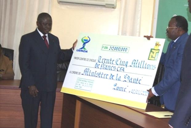 Les Loteries d'Afrique Offrent 35 millions au Togo pour lutter contre Ebola