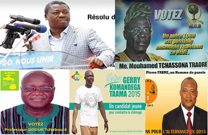 5 candidats