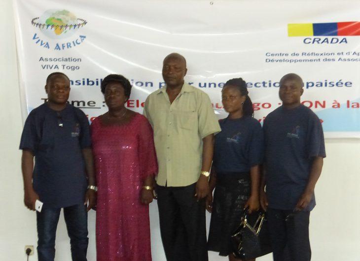 Le CRADA et Viva Togo Forment sur la non violence en période électorale