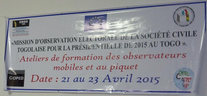 La Confédération Nationale de la Société Civile (CNSC) forme ses observateurs