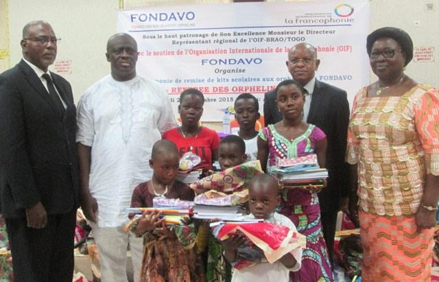 Rentrée scolaire : 300 orphelins à l'école grâce à FONDAVO, l'OIF et Lydia-Ludic
