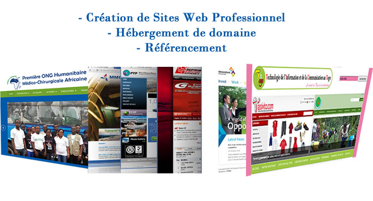 creation site web au Togo