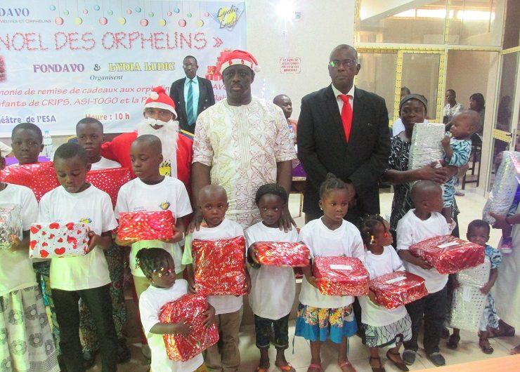 Noël pour les orphelins : Fondavo et Lydia Ludic font le plein des cadeaux