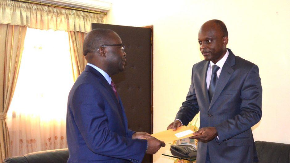 UNFPA-Togo: Lettres de créances de Saturnin Epié à Robert Dussey