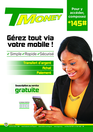 TMoney de Togocel, le produit phare de transfert d'argent, d'achat et de paiement au Togo