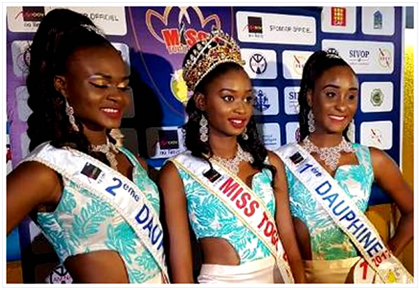 Miss Togo 2017 : ADOMAYAKPO Cornelia Dédévi Ayaba Élue