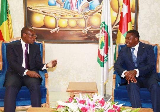Le président béninois Patrice Talon en visite de travail au Togo