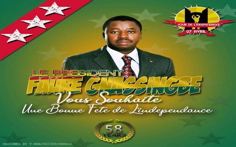 La 58 fête de l'indépendance du Togo est célébrée ce 27 avril 2018