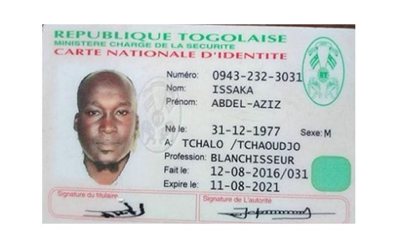 Un béninois en cavale au Togo arrive à obtenir une carte d'identité nationale
