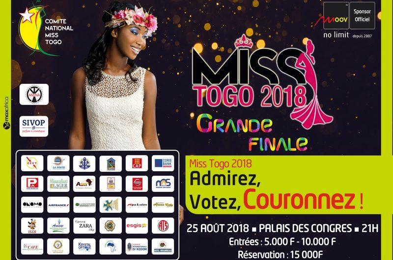 Miss Togo 2018 : C'est ce 25 Août au palais des congrès de Lomé