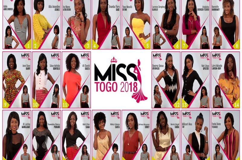Grande Finale Miss Togo 2018, Photo des candidates