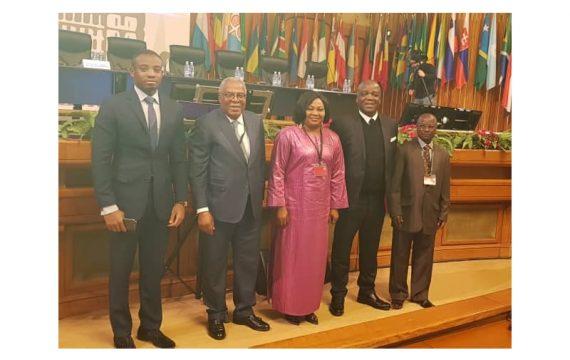 Le député Mey Gnassingbé et ses collègues parlementaires en Roumanie.