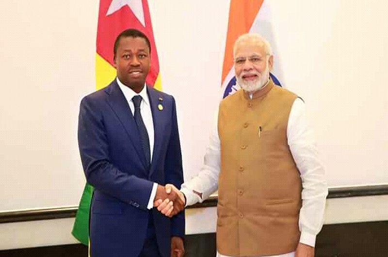 Faure Gnassingbé félicite le premier ministre indien Narendra Modi pour sa réélection.