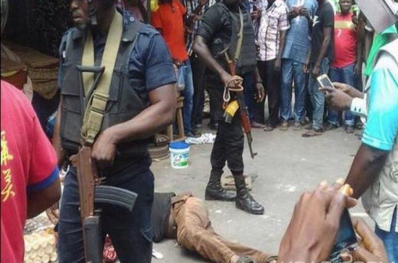 Quatre malfrats arrêtés à Lomé présentés par la brigade d'investigation ce vendredi.