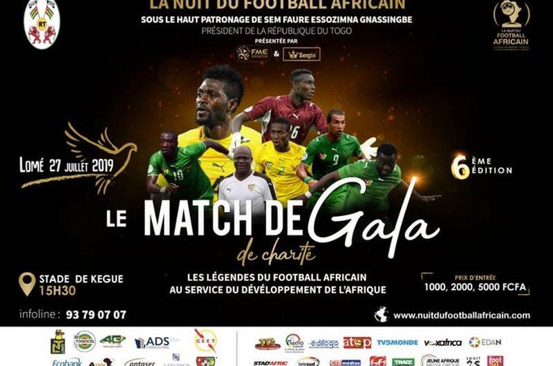 Faure Gnassingbé offre le match de gala entre légendes togolaises et africaines au public togolais.