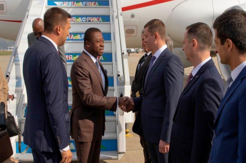 Faure Gnassingbé a atterri sur le sol russe pour le sommet Russie-Afrique.