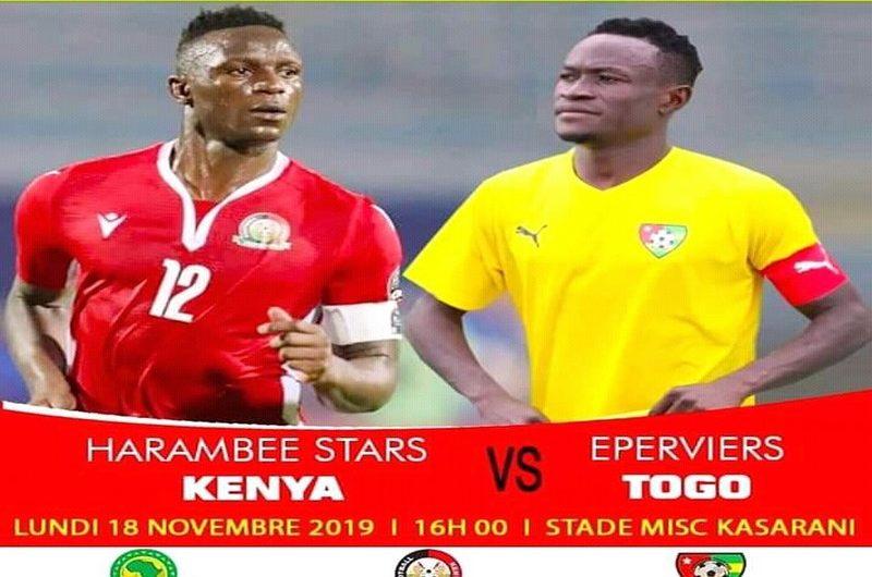 CAN 2021/Kenya-Togo: jour de match pour les Eperviers qui n'ont plus droit à l'erreur.