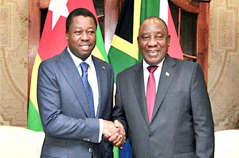 Le président sud-africain Cyril Ramaphosa en visite de deux jours au Togo.