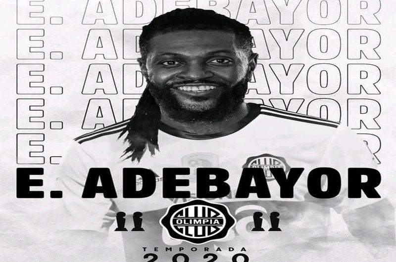 Togo/Football: Emmanuel Adebayor s'engage avec le club sud-américain Le Club Olimpia.