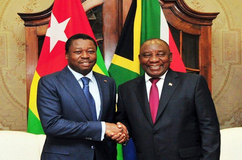 Le président sud-africain Cyril Ramaphosa félicite Faure gnassingbé pour sa réélection.