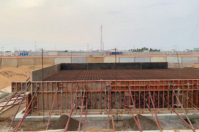 La première phase de la construction de la centrale Kekeli bientôt achevée.