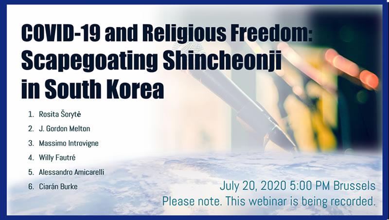 COVID-19 et la liberté religieuse : Shincheonji bouc émissaire en Corée du Sud