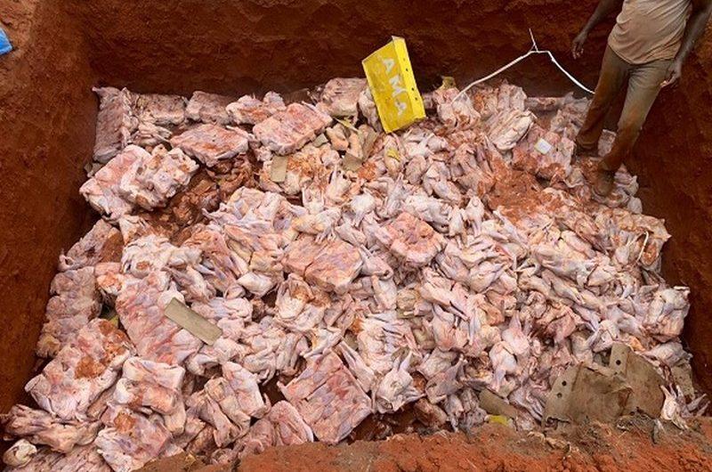 Togo: saisie de 400 cartons de produits congelés illicites dans le quartier Wonyomé à adidogomé.
